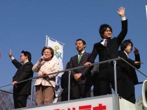 豊川女性部長街頭演説